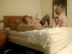 Chick gets fucked and facialized by two guys
