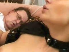 Busty nurse fuck an old guy