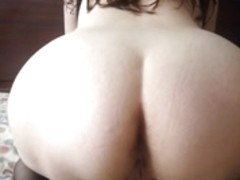 Curvy Latina bitch spreading her wide cunt for my camera