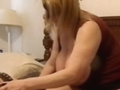 BBW MILF with huge tits dominating a hot younger male