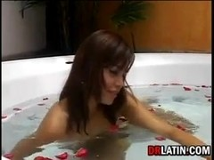 Hot Latina In The Bath Tub
