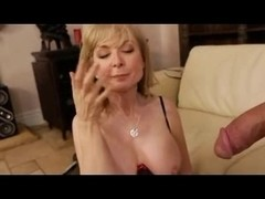 The Blonde MILF babe, Nina Hartley in fucking action
