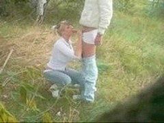 Nature sex with blond girlfriend