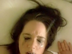 Youthful cutie can't live without facial compilation