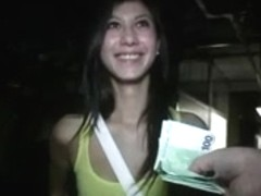hawt hotty is paid to fuck in public garage