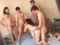 russian older janna group sex part 1