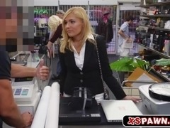 Lovely blonde chick loves to get paid