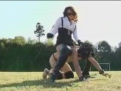 Asian Pony Play Boot lover