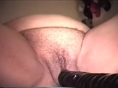 My corpulent aged slut and her ridiculously long sex tool