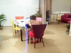 French legal age teenager sucks and bonks a hard knob.