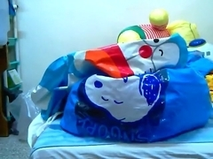 fuck inflatable snoopy and doraemon