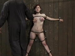 Gorgeous All Natural 19 Year Old Newbie Chained to the Wall