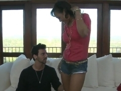 Ebony lassie Brooklyn Carter gets involved into a dirty play