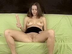 My hot broad masturbates with toys