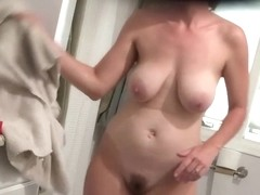 She hums while she showers