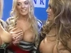 British blond bitch in some other FFFM foursome in nylons