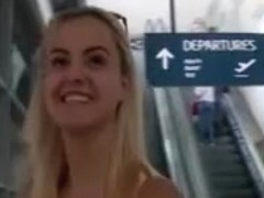 Blonde Girl From Airport