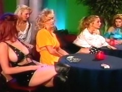 Blond Lesbians Try Double Ended Dildo
