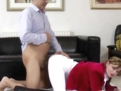 Juvenile british jockey is being drilled by old sir