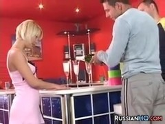 Blonde Russian MILF In A Threesome