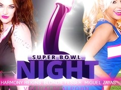 Blondie Fesser & Harmony Reigns & Miguel Zayas in Super Bowl night - VirtualRealPorn