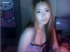 Pretty Asian babe webcam video
