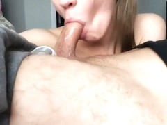 Cockgoddess - Natural Nympho Babe Slobbers all over Thick Uncut Cock