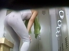 Spying on her in the locker room