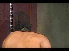 Hooded gay submissive gets fucked good