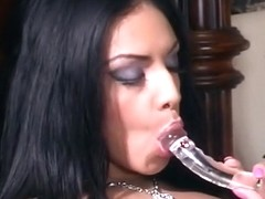 Ebony Stunner Strips & Works Her Clit