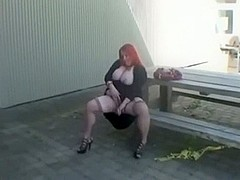 Red-Haired large pretty woman Outdoor Oral-Sex-Service
