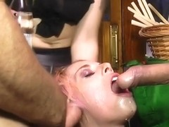 Euro slut fucked at gas station