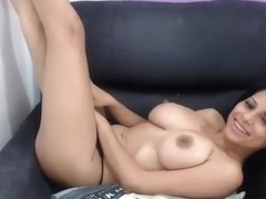 Large Tits Shake On The Webcam