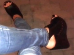 my blak platform wedges