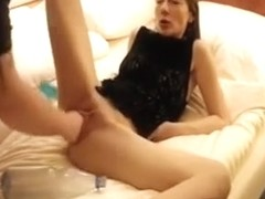 Double Fisting And Dildo Fucking Her Ruined Teen Twat