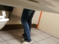 Coffee shop hidden toilet camera catches woman
