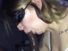 Sloppy Ebenholz Deepthroat Bbw