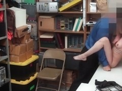 Shoplifter Angel Del Rey Gets It Up Her Pussy