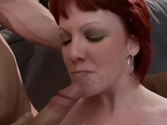 Redhead emo punk cumshot and facial compilation