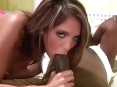Gagging on Big Black Cock