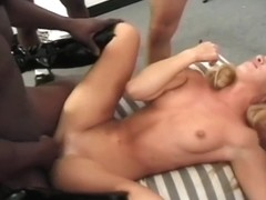 Young Bridgette Kerkove Gets All Holes Stretched by 3 BBCs, Interracial