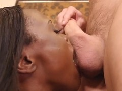 Sexy panter Ana Foxxx getting capstone with white guy