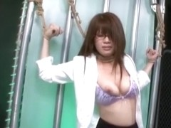 Asian Maledom And Femdom Tag Team On Submissive Japanese Teen