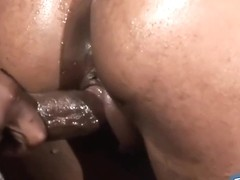Kinky guy likes everything his new girlfriend is doing with his rock hard meat stick