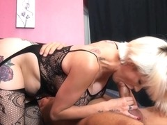 Goth girl giving head and gets fucked abuse