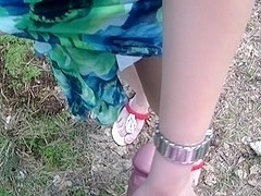 Ella in amateur girl sucking dick in the outdoors