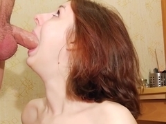 Anal loving cutie sodomized and humiliated with piss on face