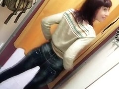 Almost public changing room anal apologise