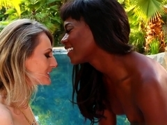 Horny pornstars Natasha Starr, Remy LaCroix, Lola Foxx in Crazy Fingering, Outdoor adult movie