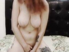 Busty Camgirl Fucks Her Pussy with a Huge Dildo